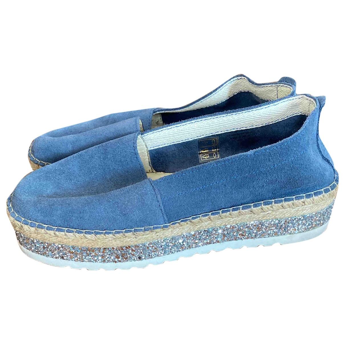 - Espadrilles   pour femme en toile - bleu