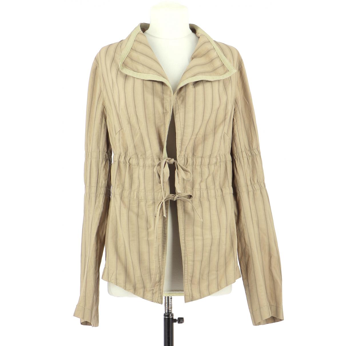 Ikks \N Beige Cotton jacket for Women 40 FR