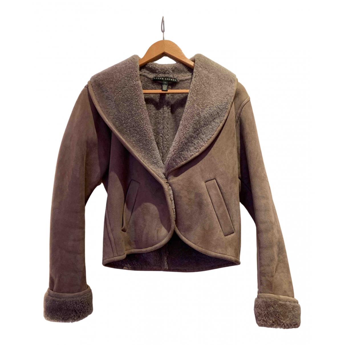 Ralph Lauren N Beige Leather Leather jacket for Women 2 0-5