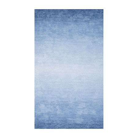 nuLoom Hand Tufted Ombre Bernetta Rectangular Rug, One Size , Blue