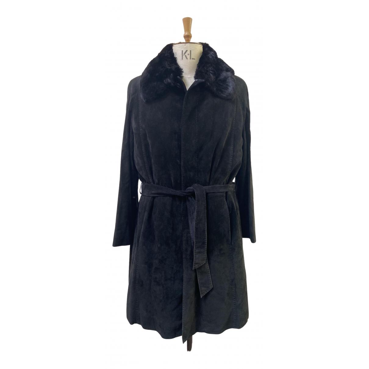 Zilli - Manteau   pour homme en suede - noir