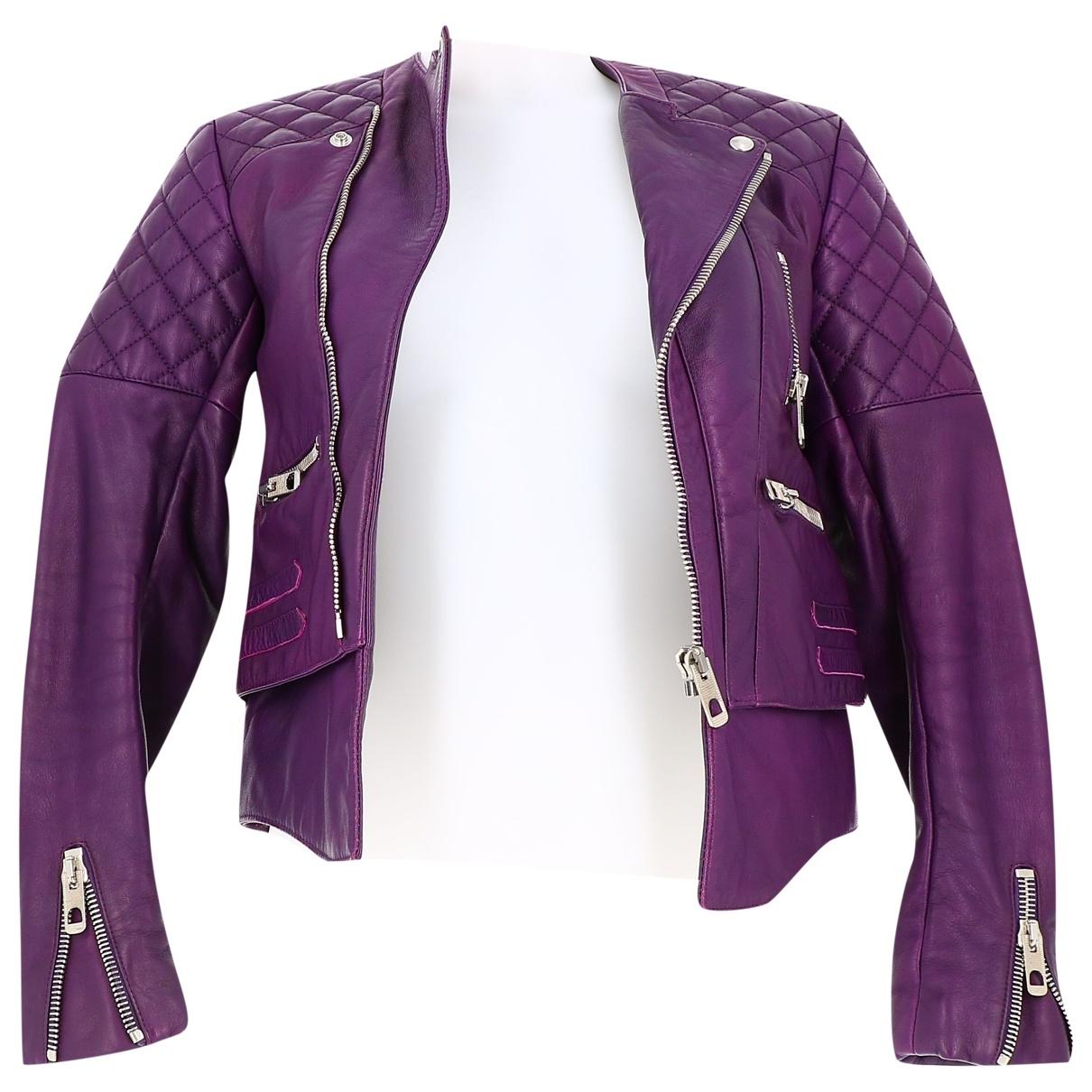 Balenciaga \N Purple Leather jacket for Women 36 FR