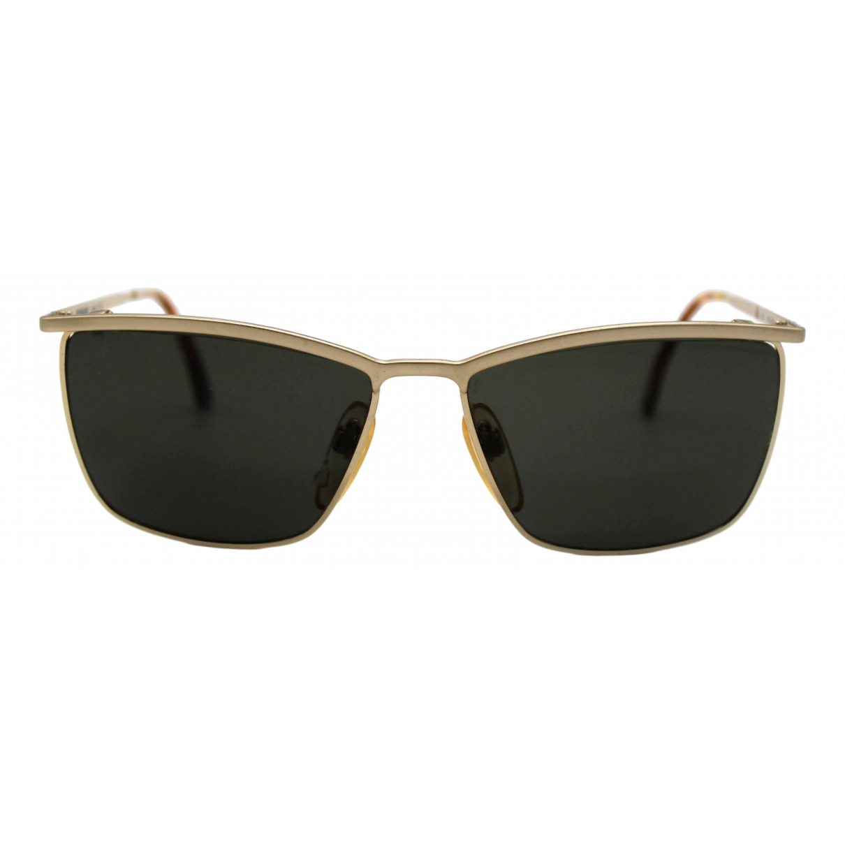 Trussardi \N Gold Metal Sunglasses for Women \N