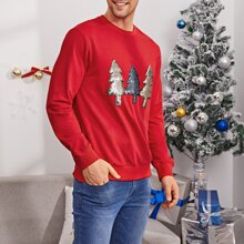 Men Christmas Pattern Pullover