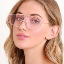 Studded Sporty Style Frameless Sunglasses