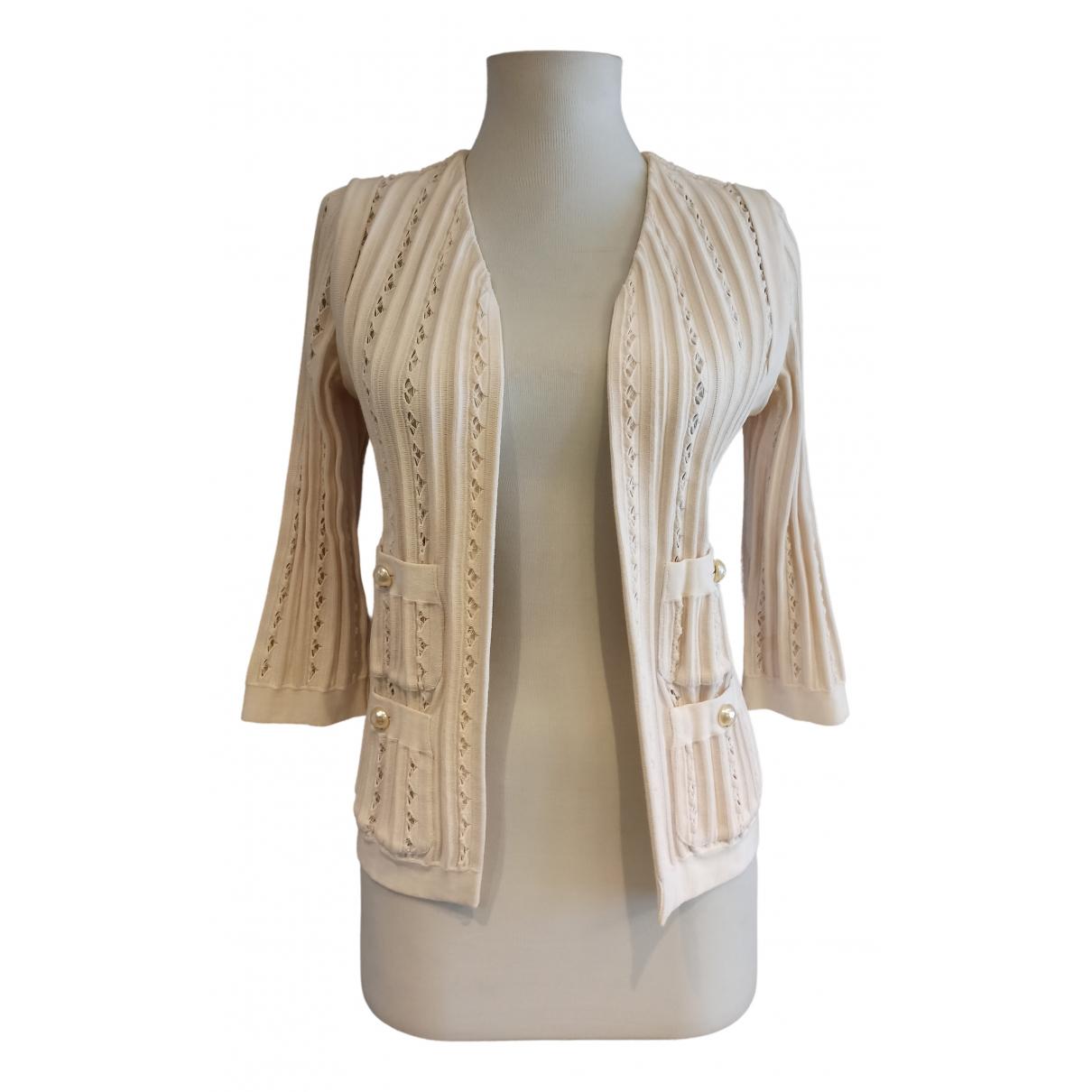 Chanel N Ecru Cotton Knitwear for Women 32 FR