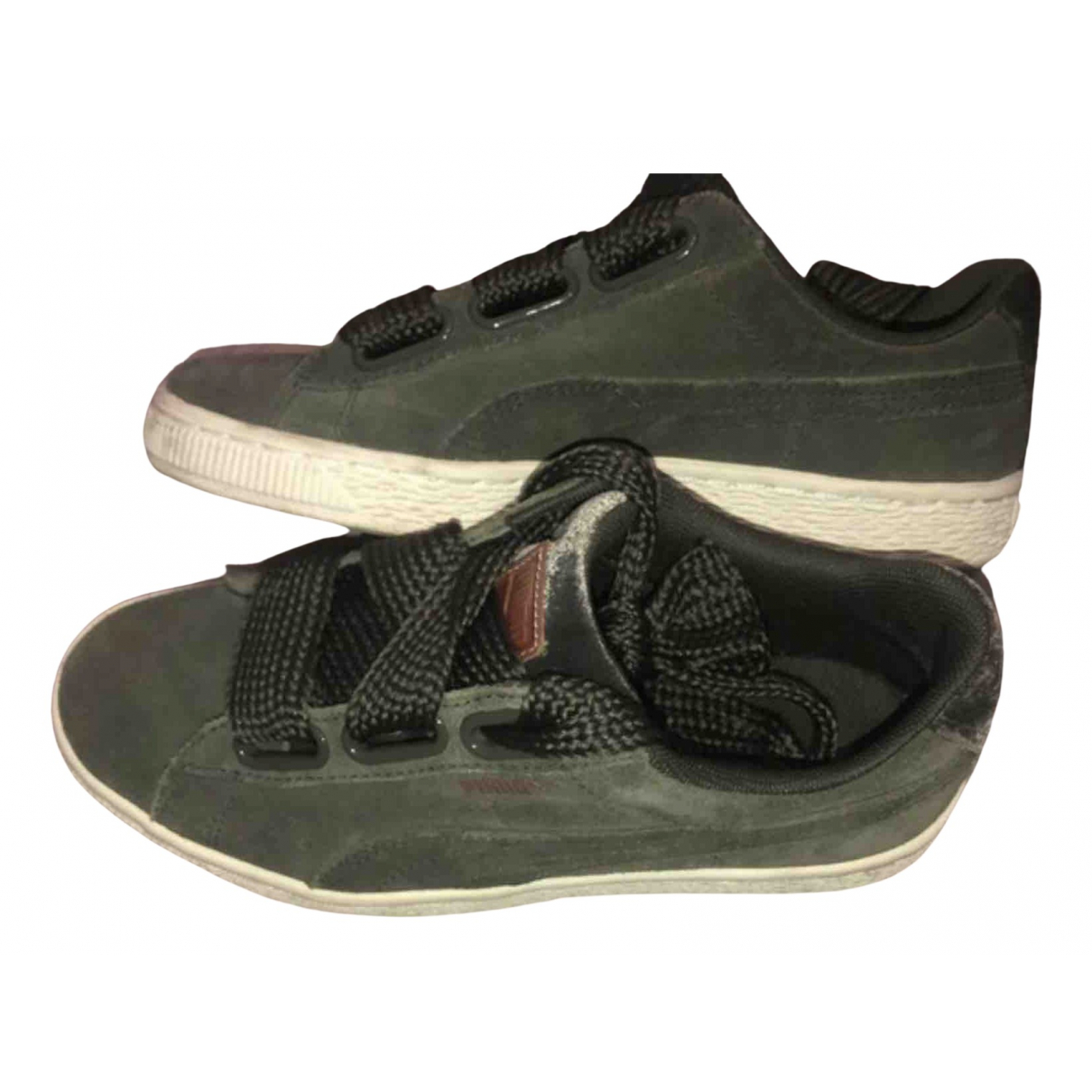 Puma - Baskets   pour femme en suede - kaki