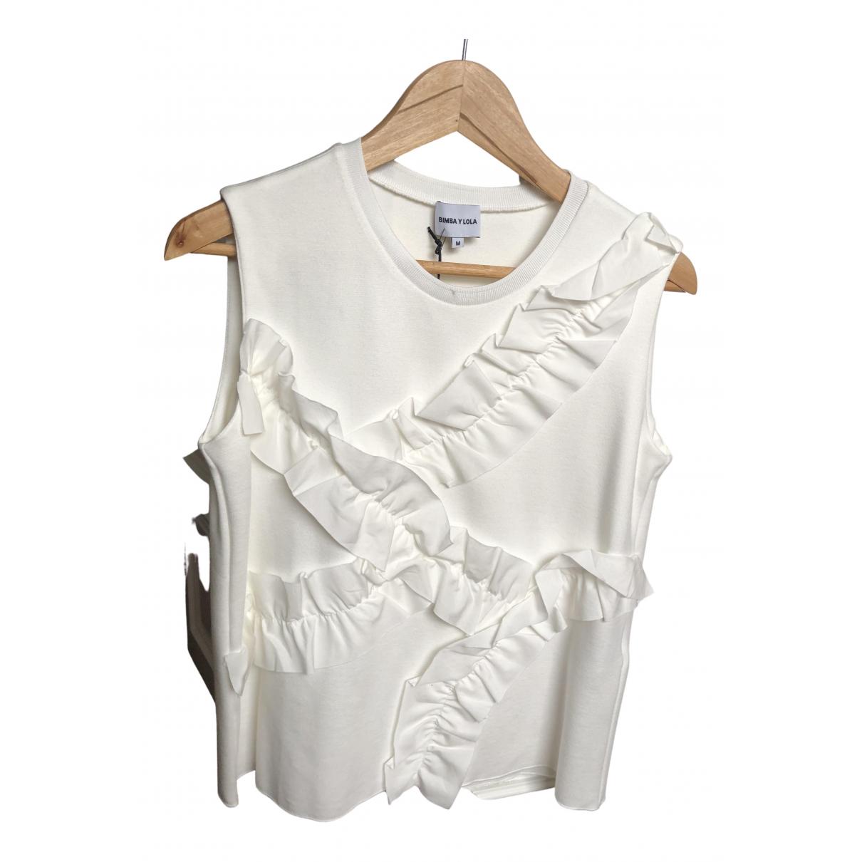 Bimba Y Lola - Top   pour femme en coton - blanc