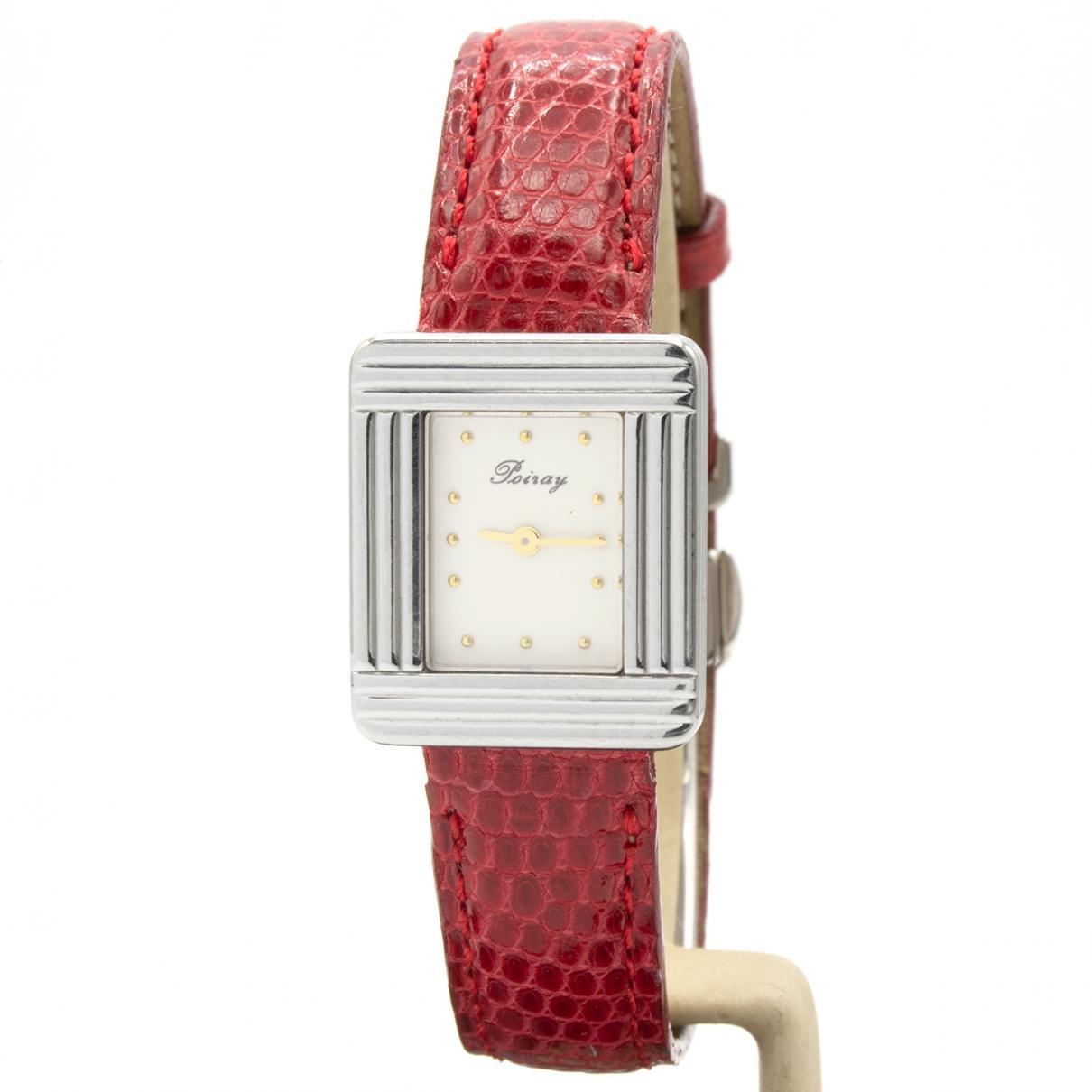 Poiray - Montre Ma Premiere Mini pour femme en acier - rouge