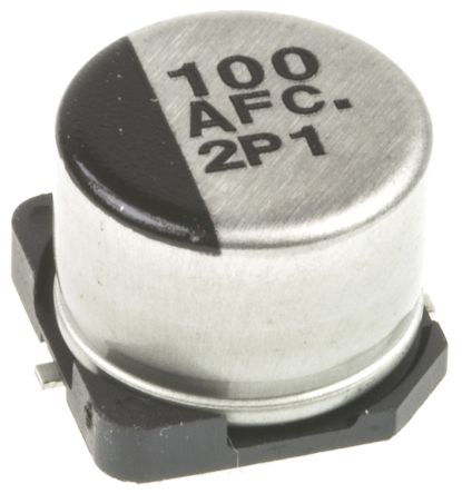 Panasonic 100μF Electrolytic Capacitor 10V dc, Surface Mount - EEEFC1A101P (5)