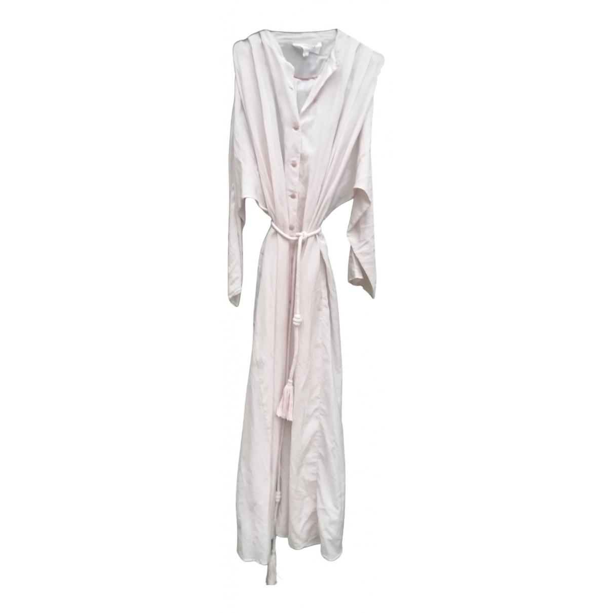 Mango - Robe   pour femme en coton - rose