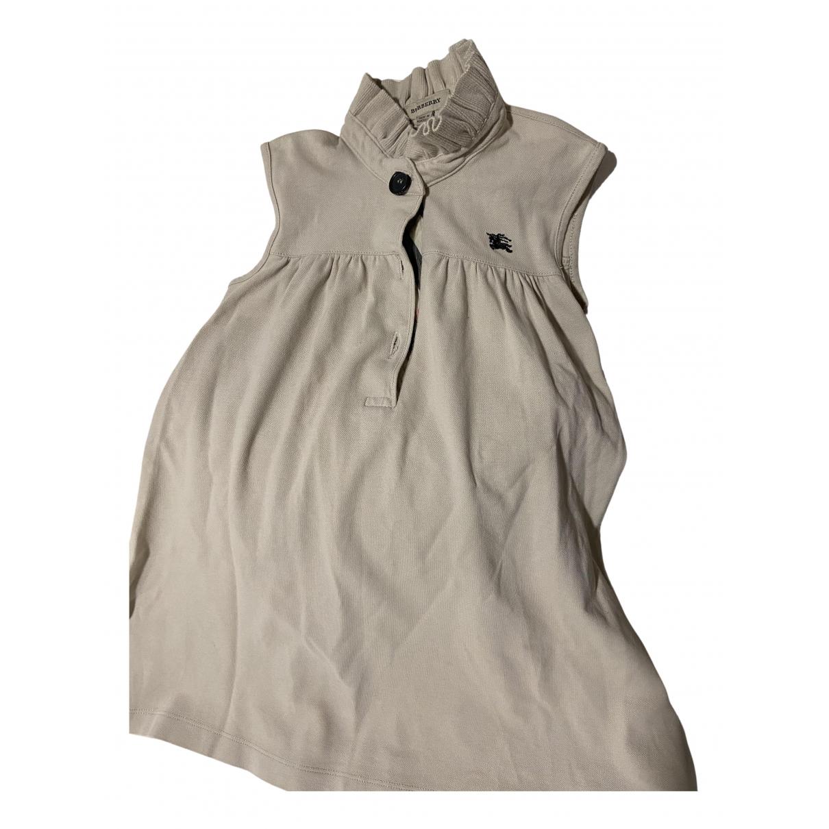 Burberry - Robe    pour enfant - beige