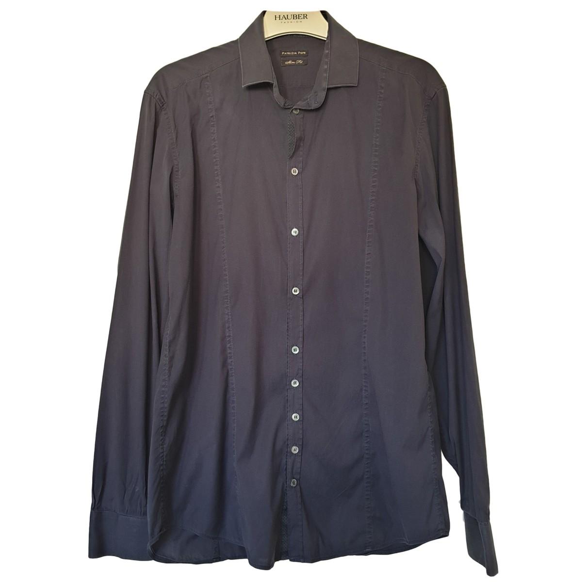 Patrizia Pepe \N Anthracite Cotton Shirts for Men S International
