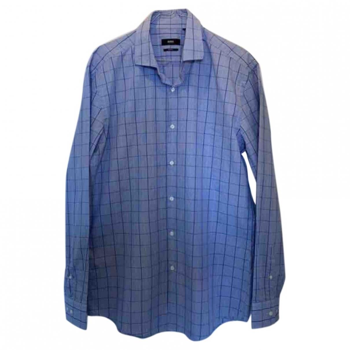 Boss \N Blue Cotton Shirts for Men 42 EU (tour de cou / collar)