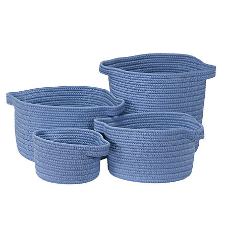 Colonial Mills Nantucket Solids Basket, One Size , Blue