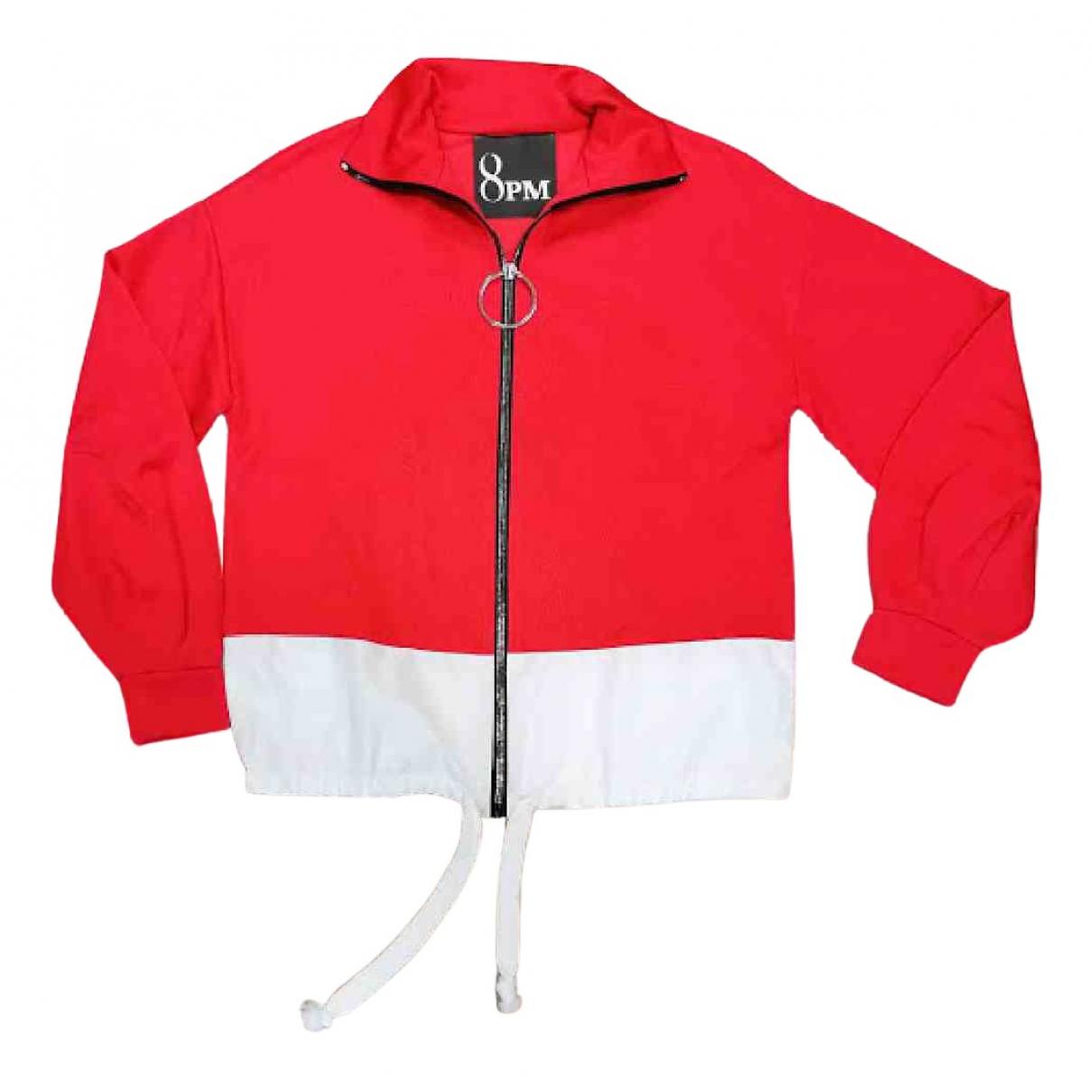8pm - Veste   pour femme en coton - rouge