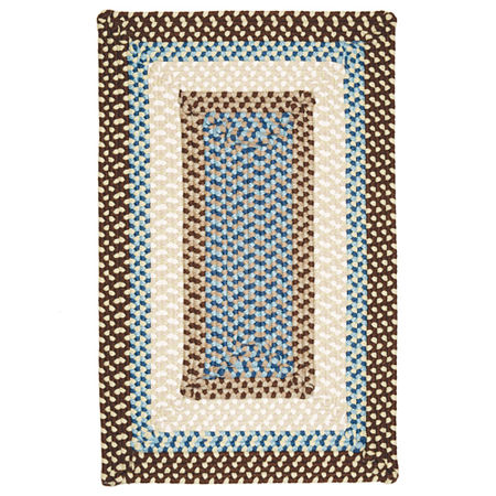 Montego Reversible Braided Indoor/Outdoor Square Rug, One Size , Brown