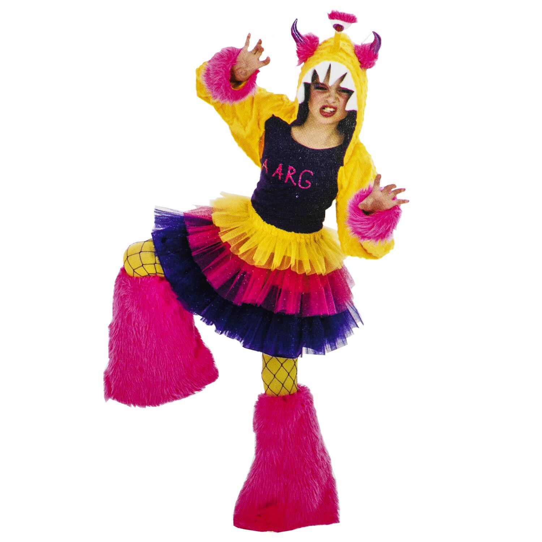Mad Fur Monstars Tween AARG Costume Yellow Pink Purple - One Size - Purple/Multi
