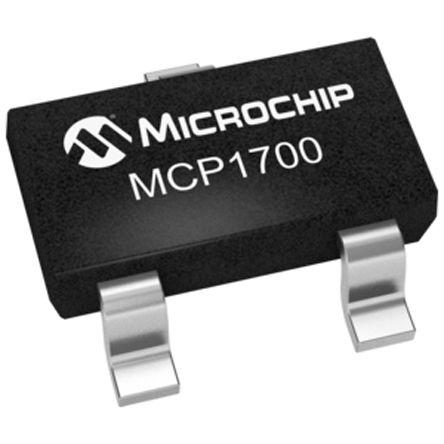 Microchip MCP1700T-1802E/TT, LDO Regulator, 200mA, 1.8 V, ±2% 3-Pin, SOT-23 (10)