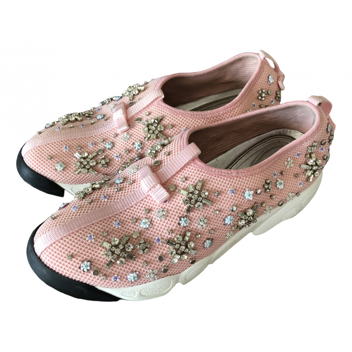Dior Dior Fusion Pink Cloth Trainers for Women 38.5 EU