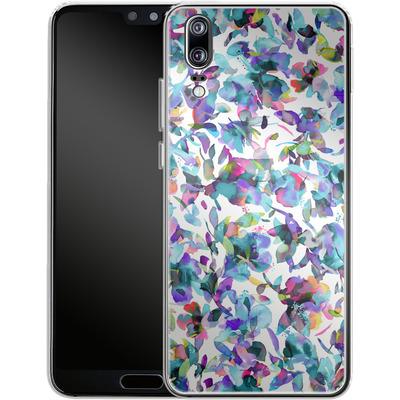 Huawei P20 Silikon Handyhuelle - Aquatic Flowers Blue von Ninola Design