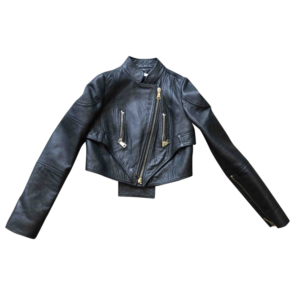 Givenchy \N Black Leather jacket for Women 36 FR