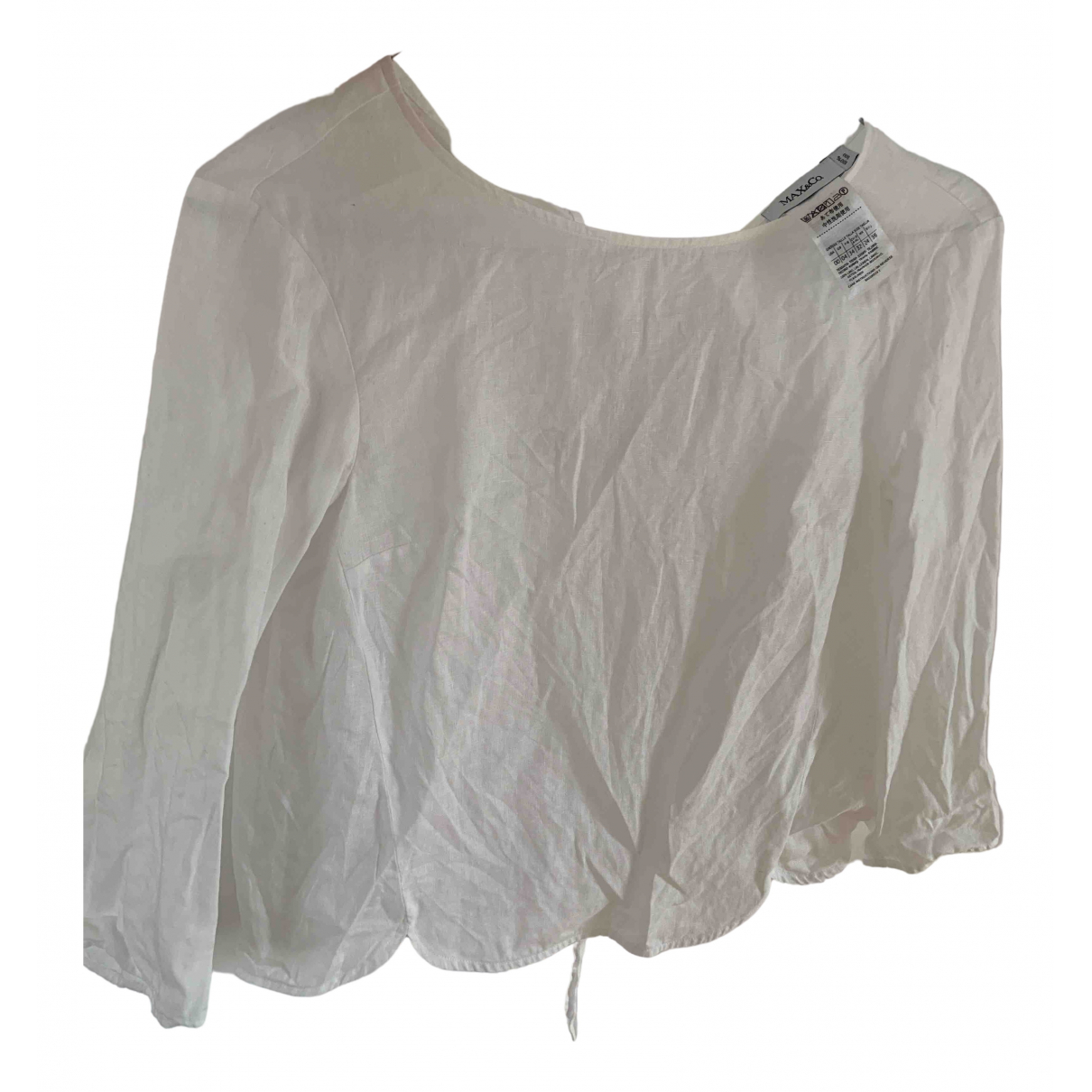 Max & Co \N White Linen  top for Women 34 FR
