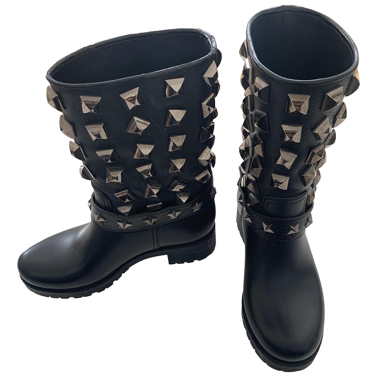Philipp Plein - Bottes   pour femme en cuir - noir