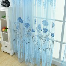 1pc Floral Pattern Curtain