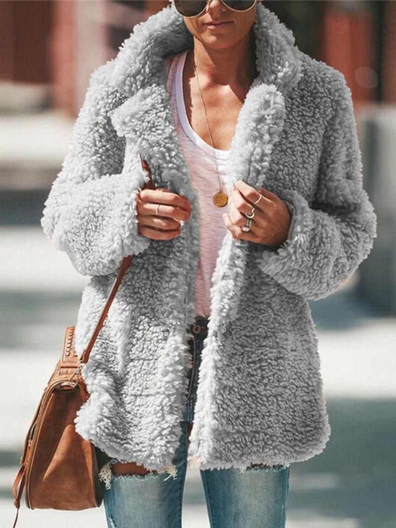 Ericdress Hidden Button Loose Winter Standard Overcoat