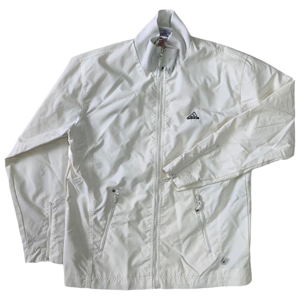 Adidas - Vestes.Blousons   pour homme en coton - blanc