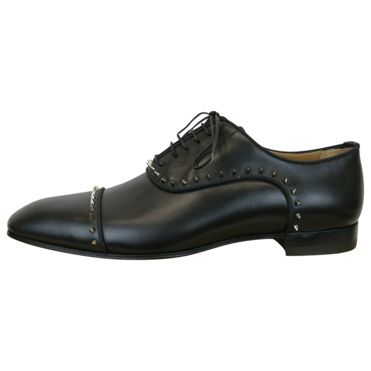 Christian Louboutin \N Black Leather Lace ups for Men 47 EU