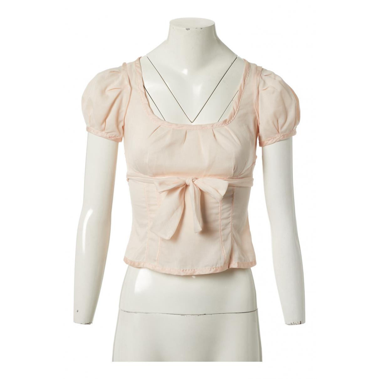 Louis Vuitton \N Pink Cotton  top for Women 36 FR