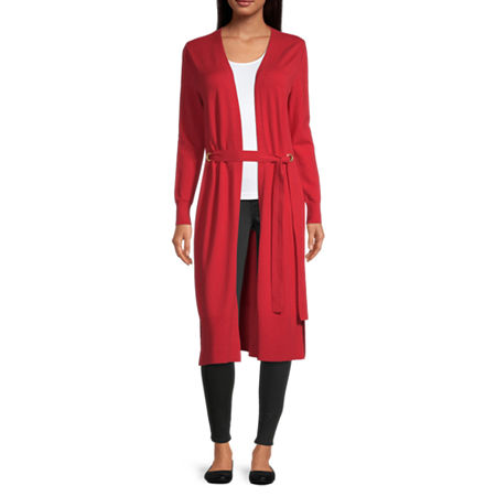 Bold Elements Womens Long Sleeve Cardigan, Small , Red