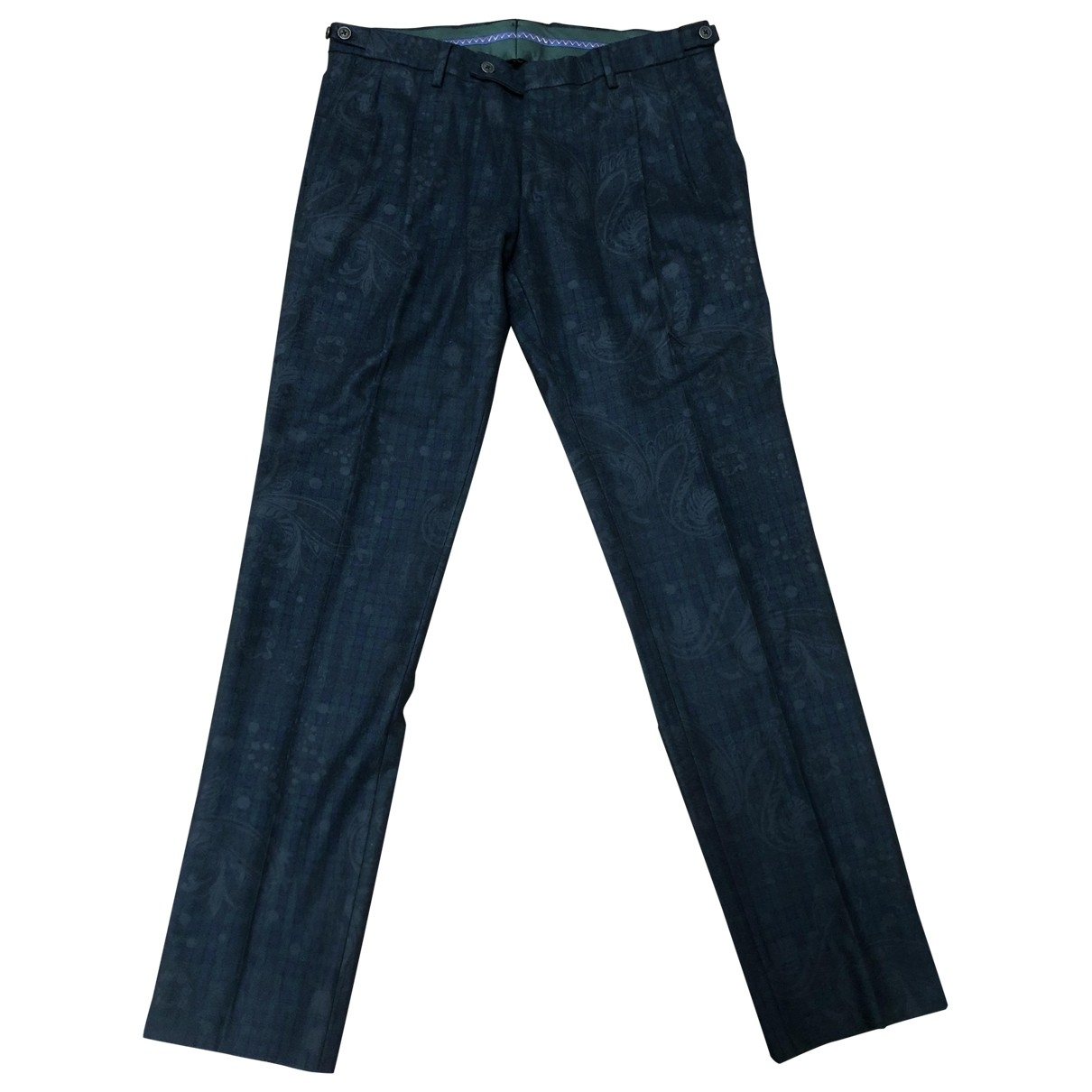 Non Signé / Unsigned \N Green Trousers for Men 50 IT