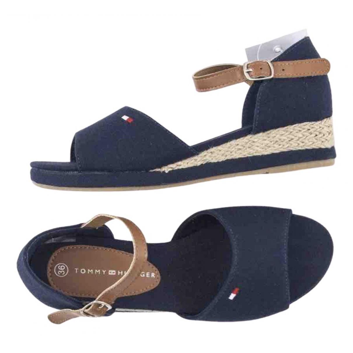 Tommy Hilfiger N Blue Denim - Jeans Espadrilles for Women 36 EU