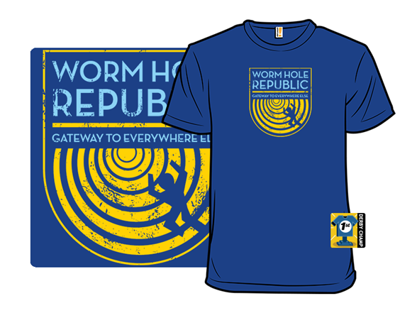 Worm Hole Republic T Shirt