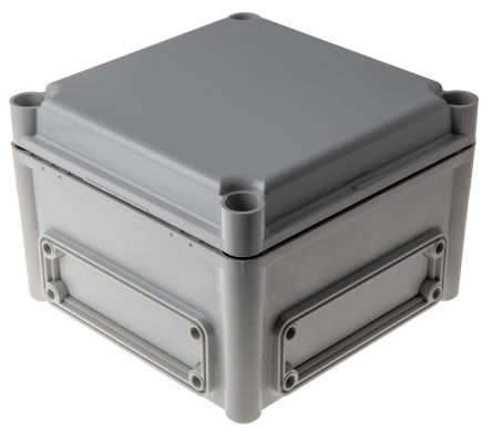 Fibox EK, Grey Polycarbonate Enclosure, IP66, IP67, Flanged, 190 x 190 x 130mm