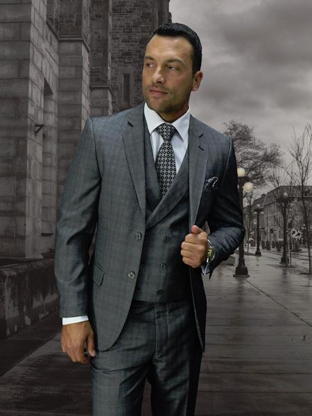 GREY Statement Plaid Suit