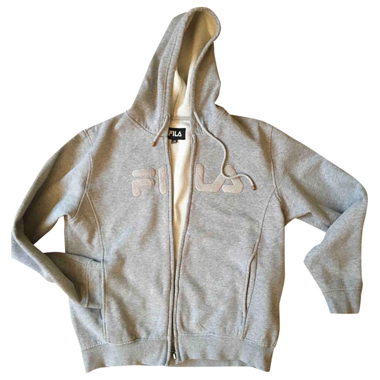 Fila \N Pullover.Westen.Sweatshirts  in  Grau Baumwolle