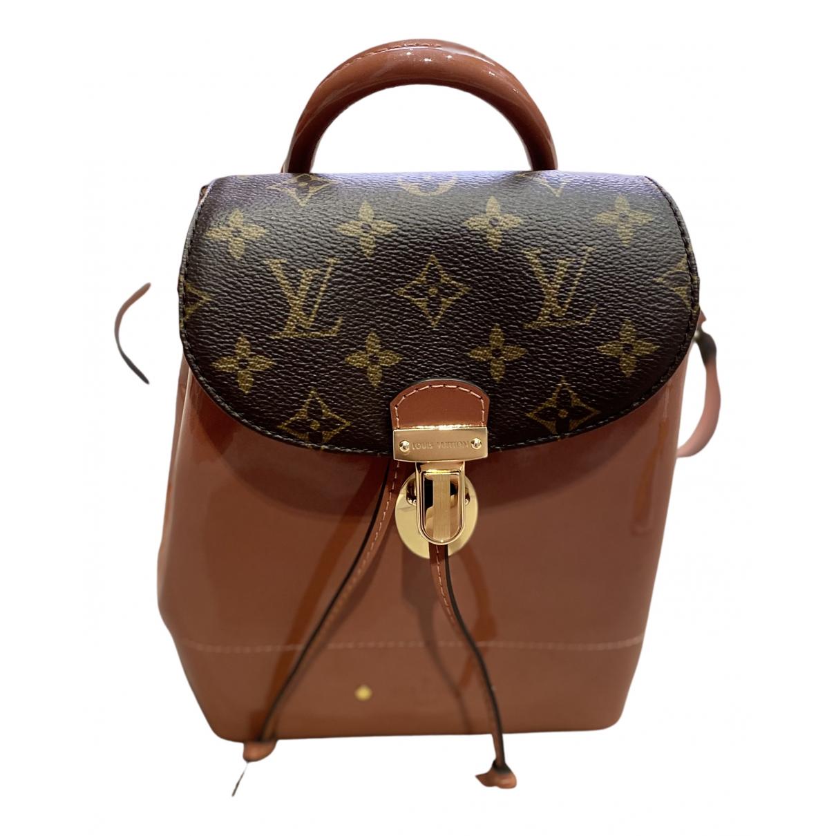 Louis Vuitton \N Rucksaecke in  Rosa Leinen
