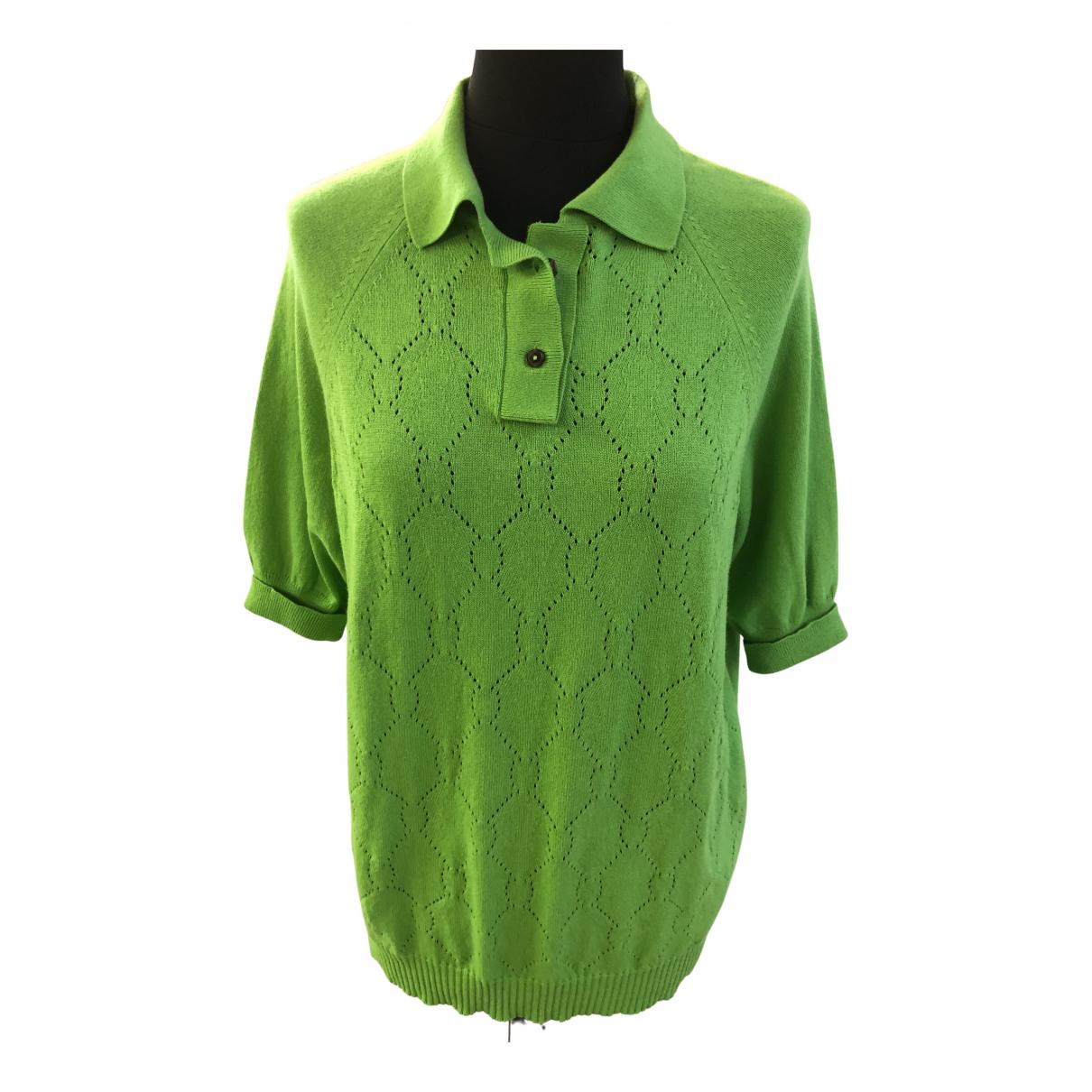 Maison Martin Margiela - Top   pour femme en coton - vert