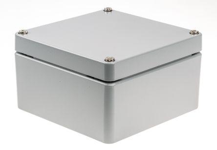 Rose Aluminium Standard, Grey Die Cast Aluminium Enclosure, IP66, 160 x 160 x 90mm Lloyds Register, Maritime Register,