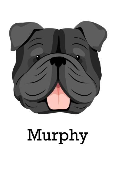 Pet 24x36 Poster , Home Décor -English Bulldog 1