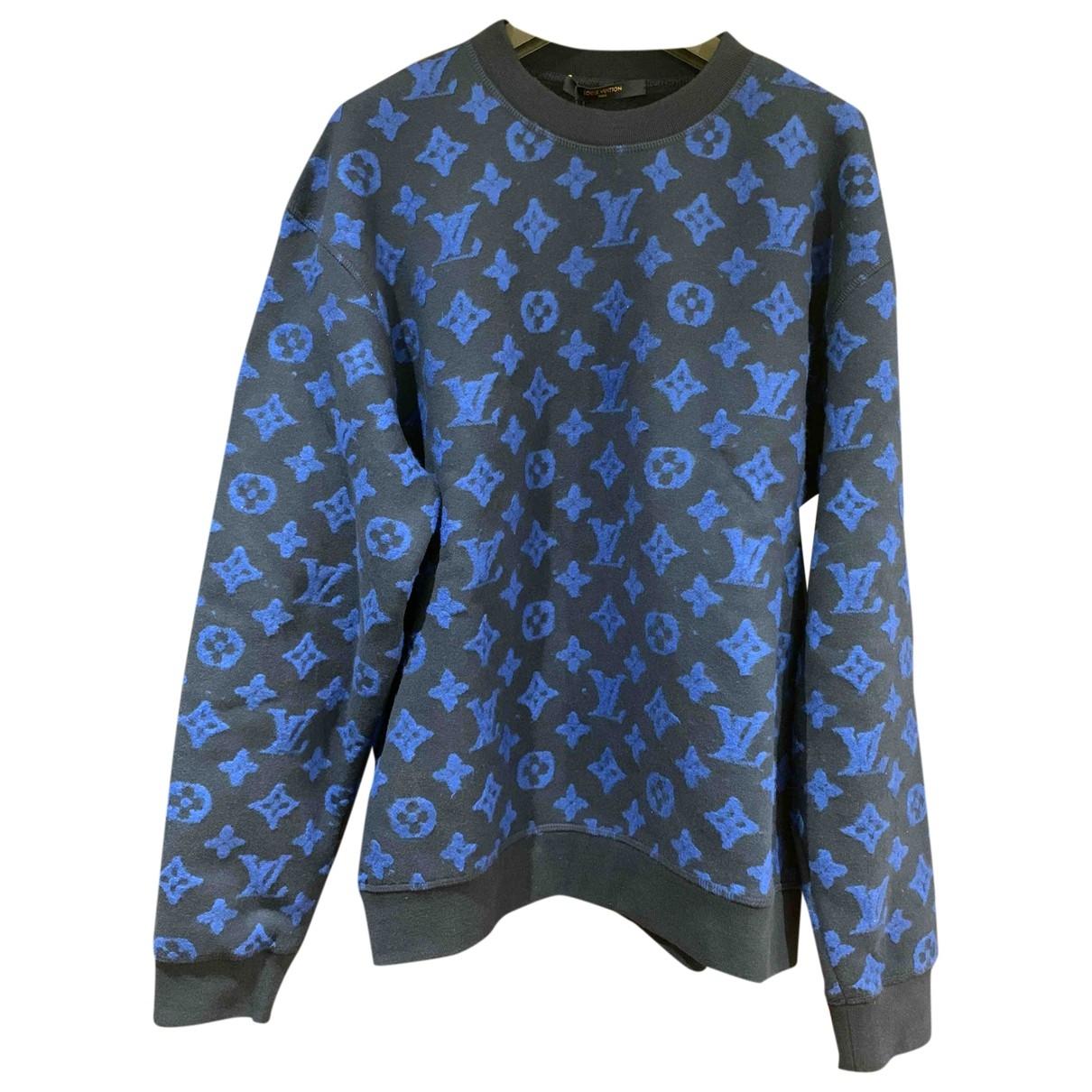 Louis Vuitton \N Pullover.Westen.Sweatshirts  in  Blau Baumwolle
