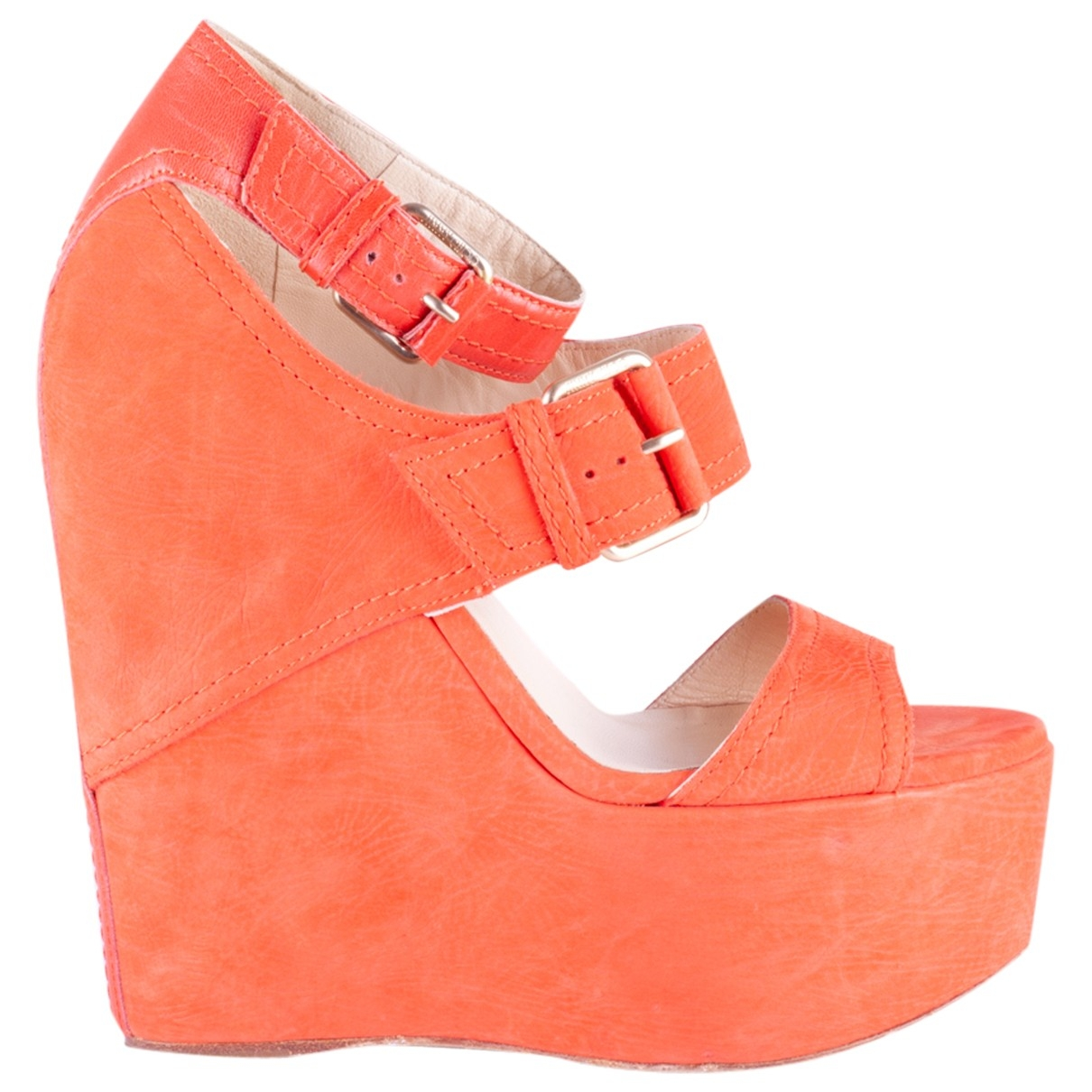 Jimmy Choo \N Orange Suede Sandals for Women 36 EU