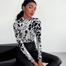 T-Shirt mit komplettem Muster