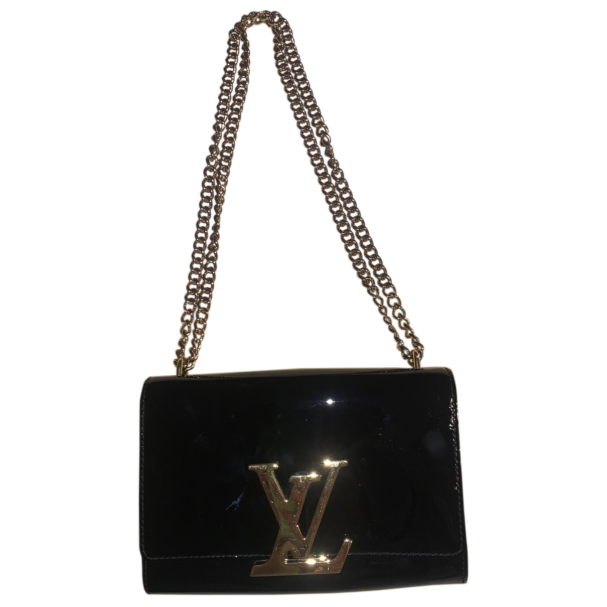 Louis Vuitton Louise Black Patent leather handbag for Women \N
