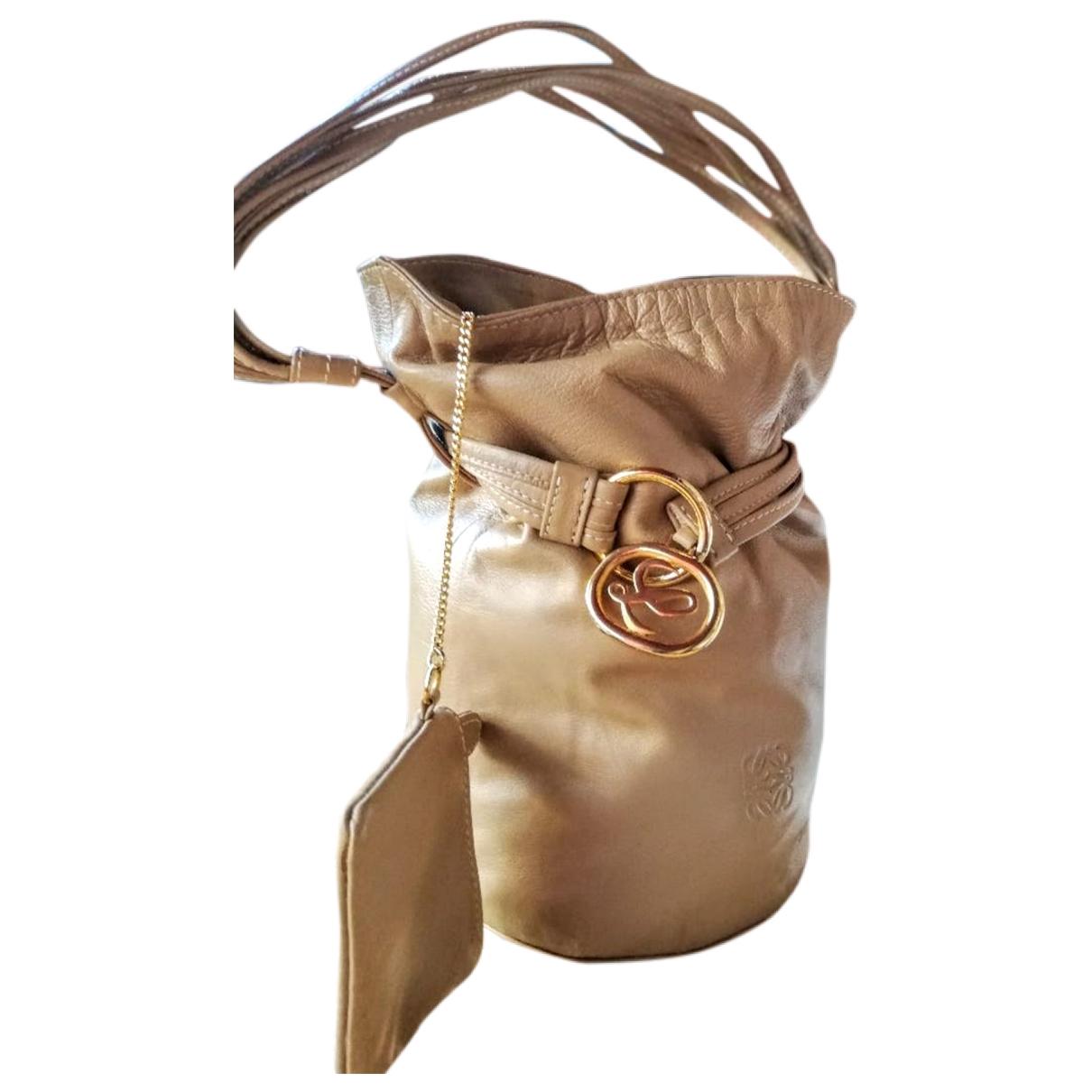 Loewe - Sac a main   pour femme en cuir - beige
