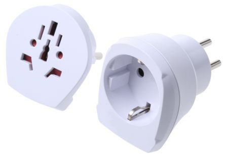 RS PRO World to Europe, Israel Travel Adapter, Rated At 16A